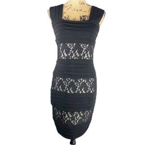 EnFocus Studio Black Bodycon Dress Lace Detail